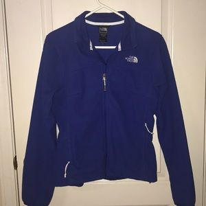 Blue North Face jacket. Size small
